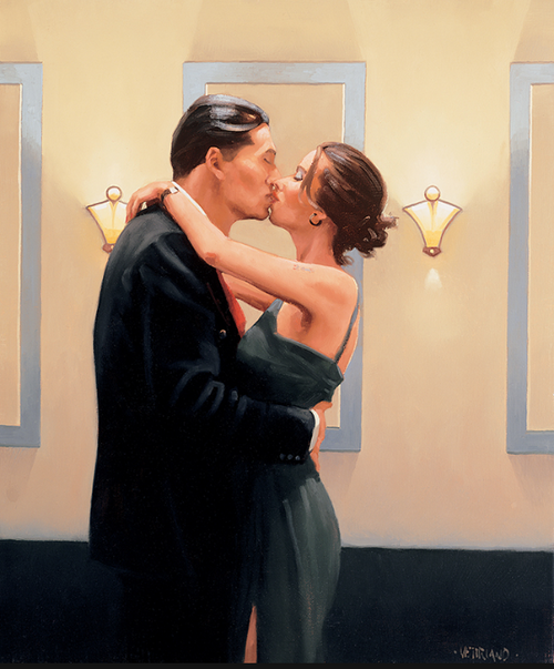 Betrayal-First Kiss by Jack Vettriano