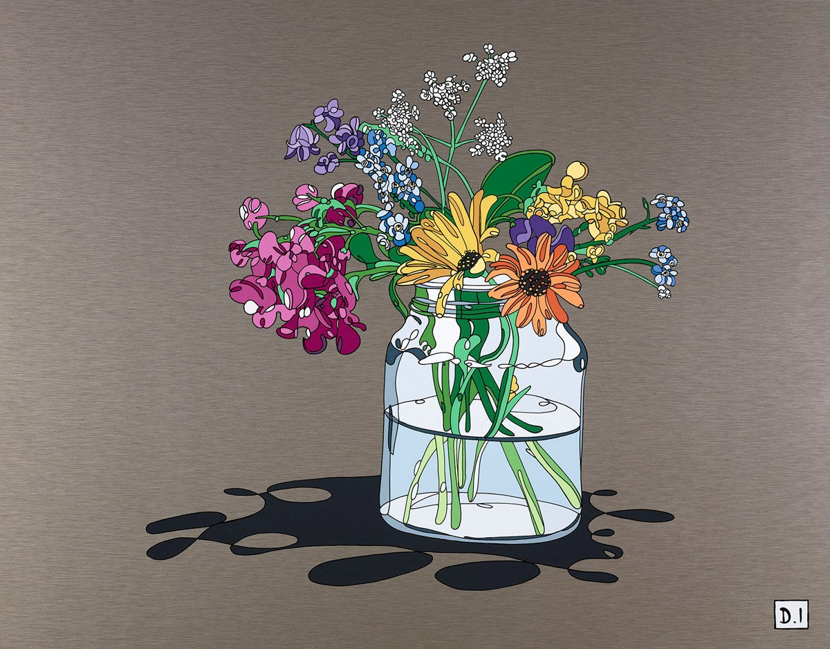 Summer Flowers in Vase by Dylan Izaak