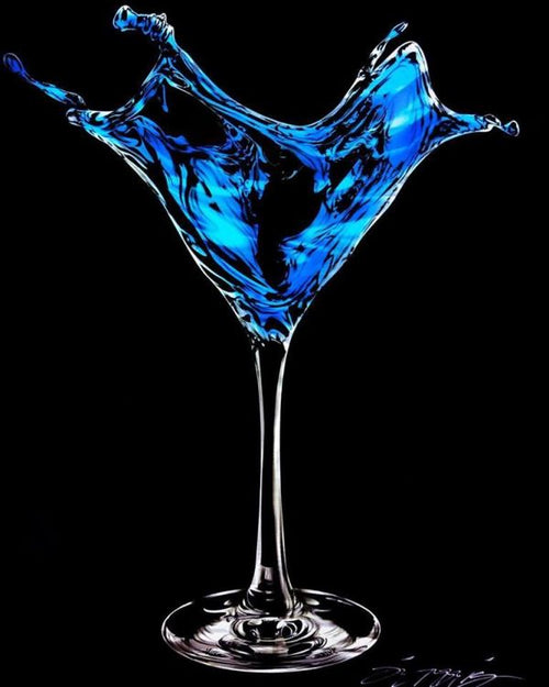 Martini Splash-Blue by Chris DeRubeis