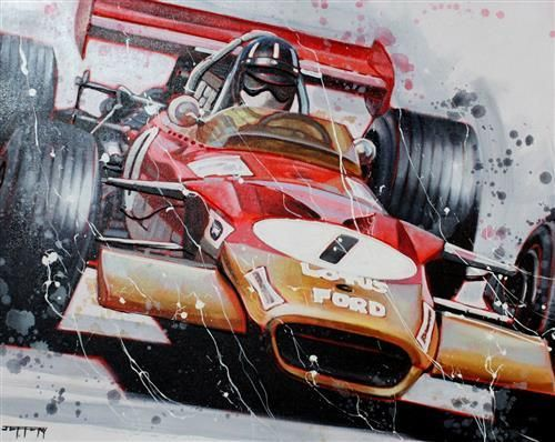 'Graham Hill 1968 Win' by Ben Jeffery