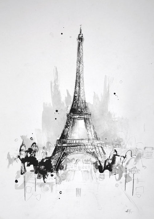 Eiffel Tower, Paris Sketch III by Anna Gammans