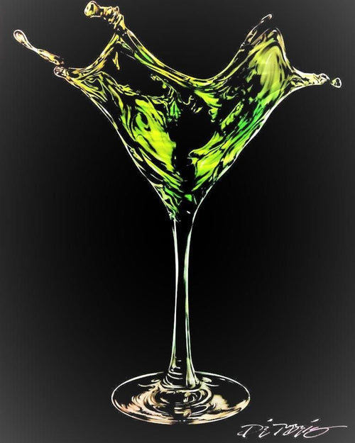 Martini Splash-Green by Chris DeRubeis