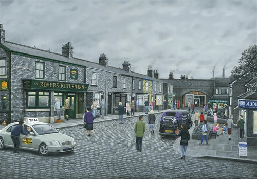 On The Cobbles-Deluxe Canvas by Leigh Lambert