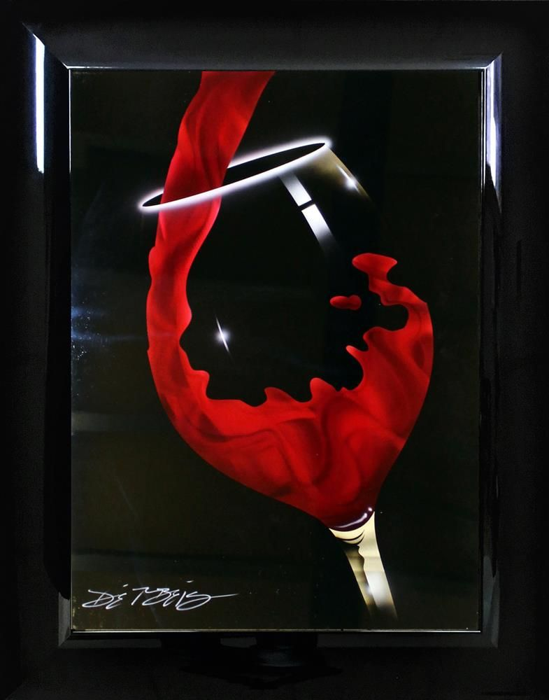 Red Pour by Chris DeRubeis