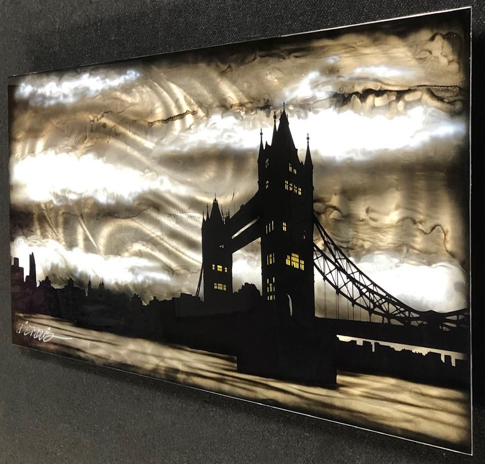 Tower Bridge- Black and Silver by Chris DeRubeis