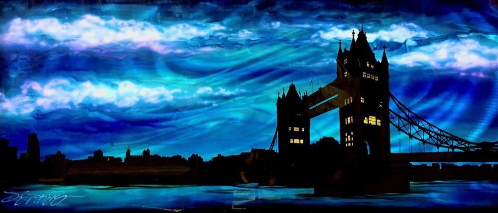 Tower Bridge-Blue & Silver by Chris DeRubeis