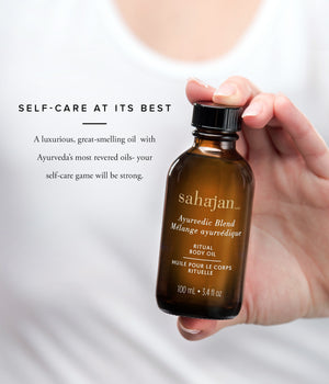 Self-Care at Its Best  A luxurious combination of Ayurveda's most revered oils with a beautiful calming scent, your self-care game will be strong.