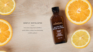 Fruit extracts orange, lemon and bilberry gently exfoliate, leaving nothing behind but glowing skin.