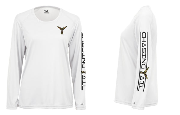 Camo Tail White Performance Long Sleeve