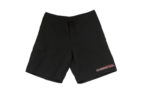 Red Tail Black Board Shorts