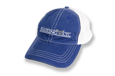 Trucker Hat Blue W/ Gray Tail