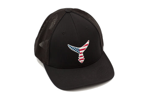 Black Liquid Embroidered Flex Fit Hat