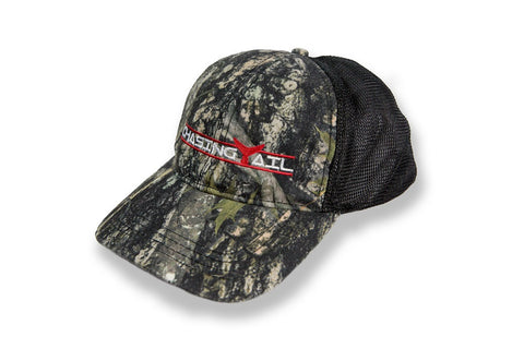 Trucker Hat Camo W/ Red Tail