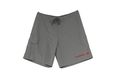 Red Tail Gray Board Shorts