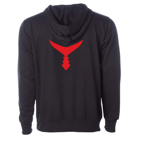 Unisex Red Tail Hoodie