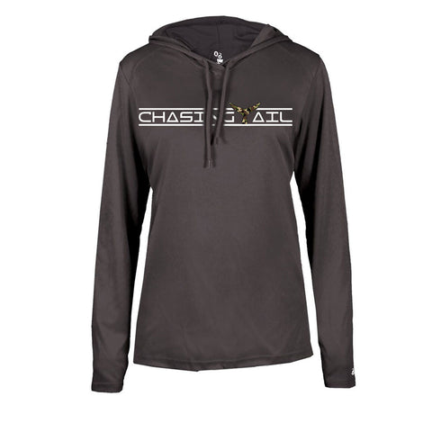 Camo Tail Hooded Long Sleeve Tech Tee