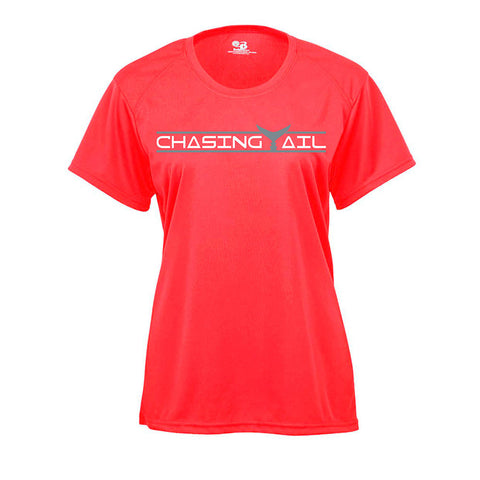 Hot Coral Short Sleeve Performance Tee