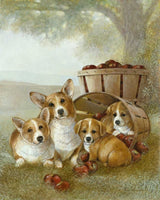 Corgi Puppies prints by Ruane Manning
