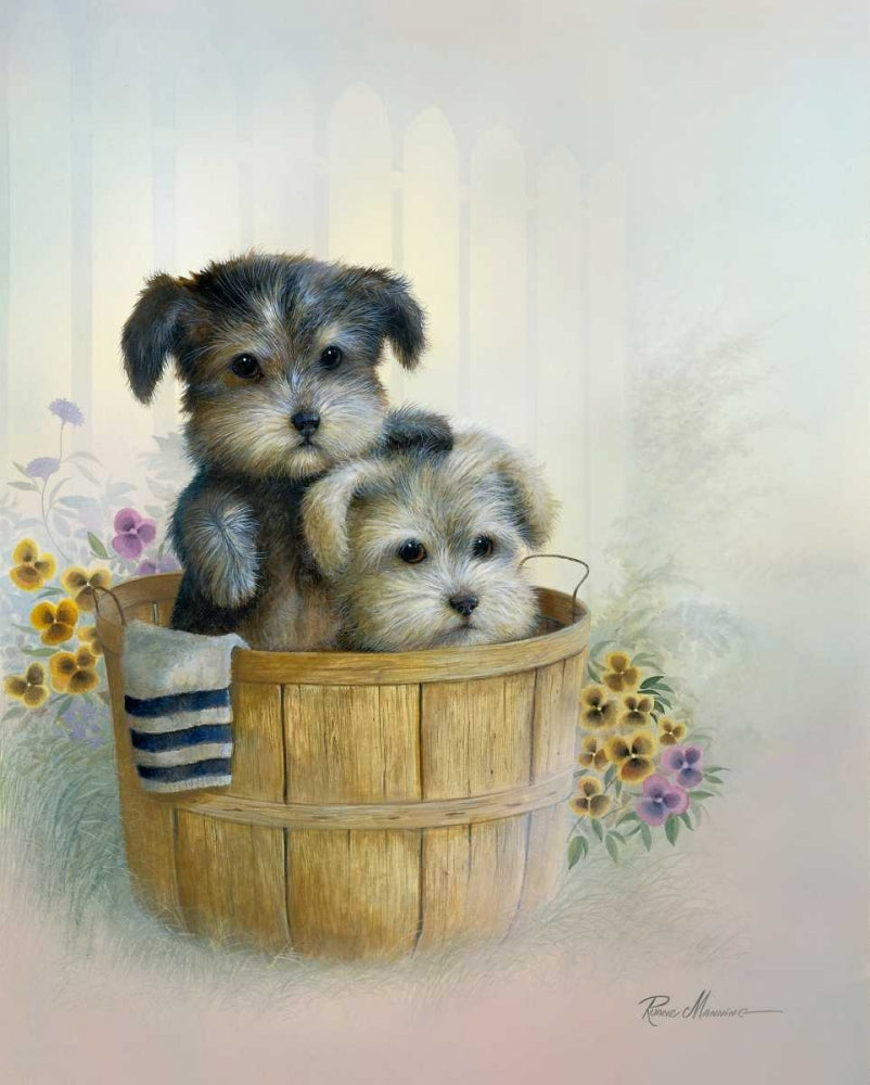Puppies Brotherly Love Art Prints