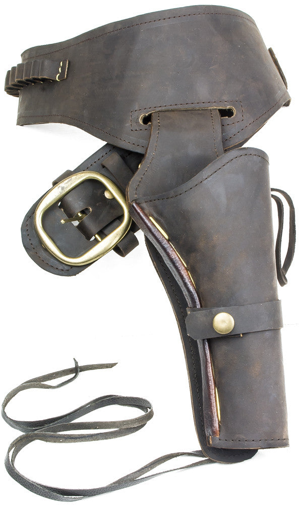 Fast Draw Oiled Brown Leather Western Holster - XL