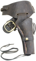 Fast Draw Oiled Brown Leather Western Holster - M