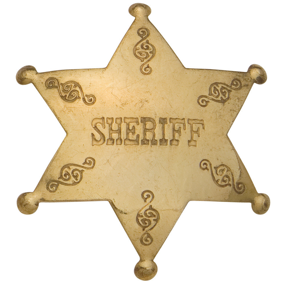 Old West Brass Sheriff's Badge