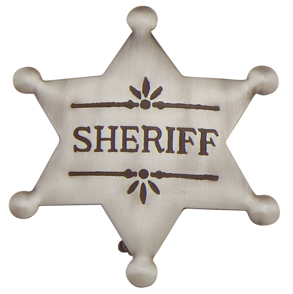 Old West Deluxe Silver Sheriff's Badge