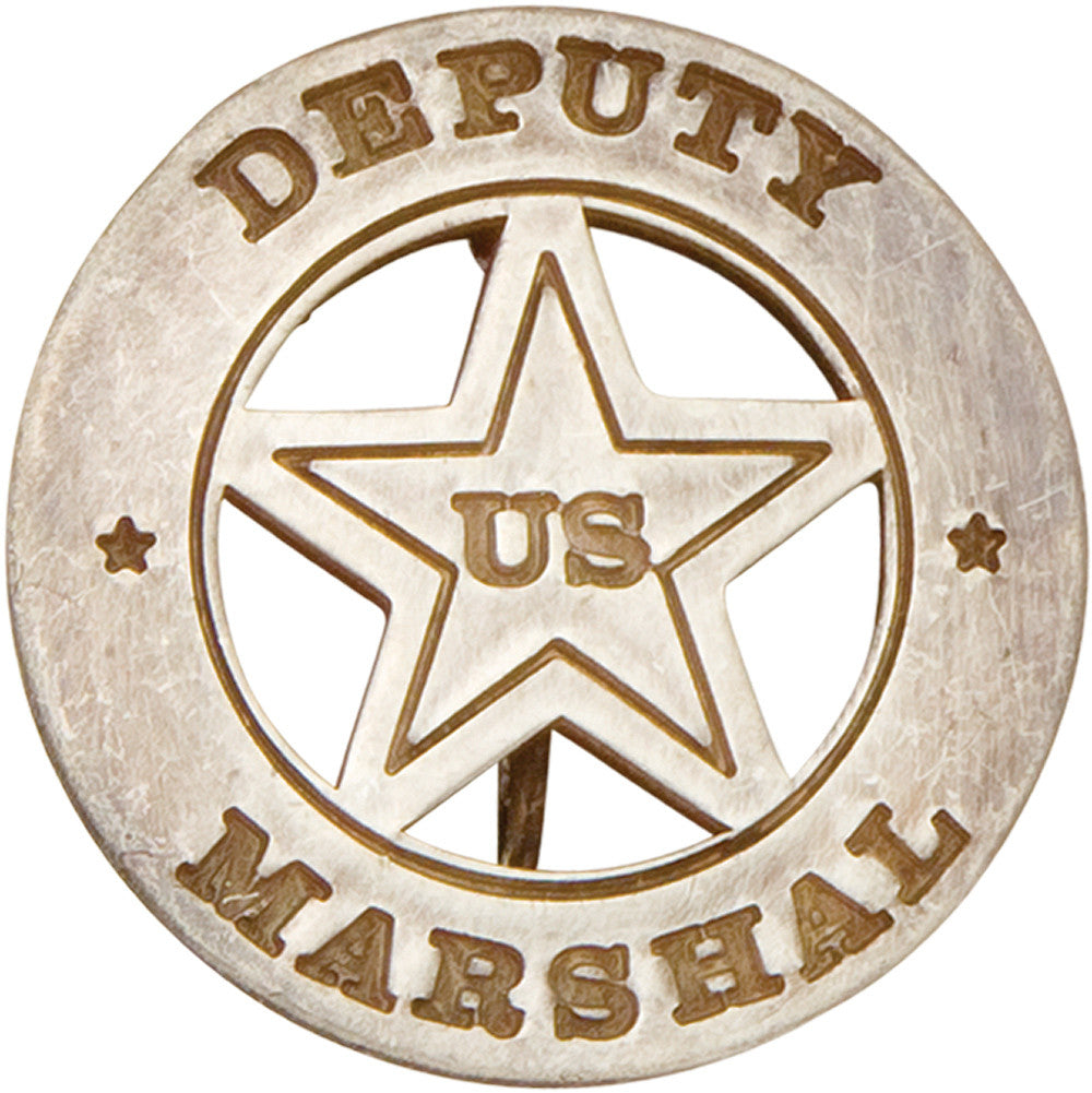 Old West Circular Silver Deputy Marshall's Badge