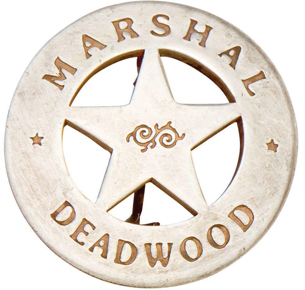 Old West Silver Deadwood Marshall's Badge