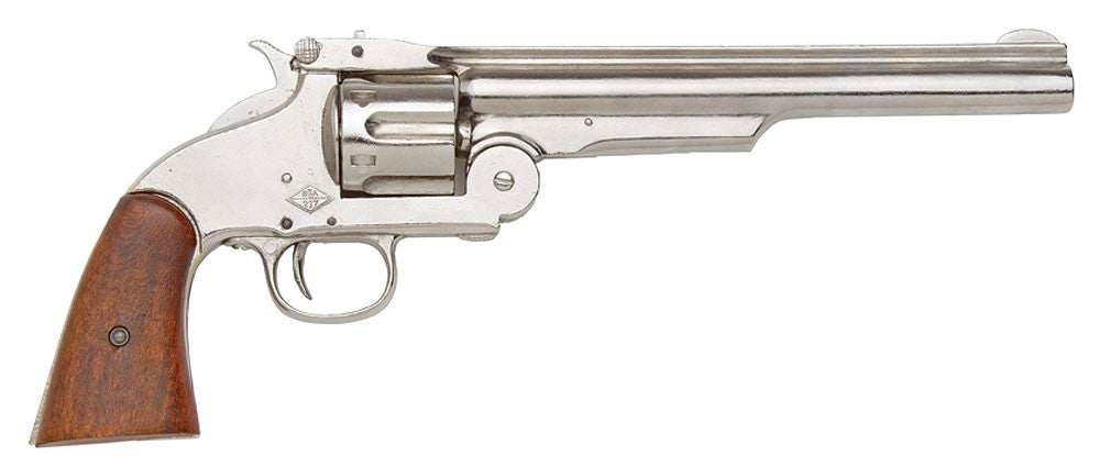 1869 Old West Schofield Western Nickel Finish Non-Firing Replica Pistol