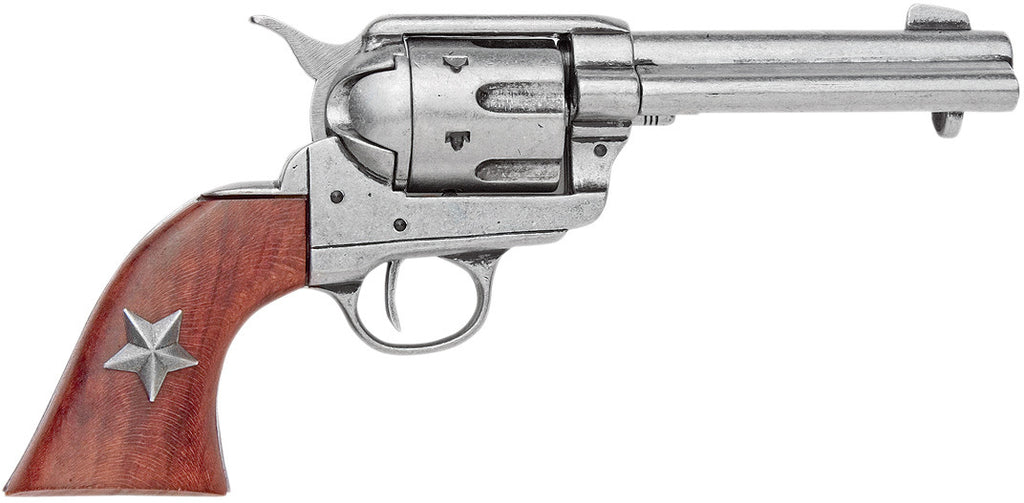Old West 1873 Grey Finish Six Shooter Revolver Non-Firing Replica