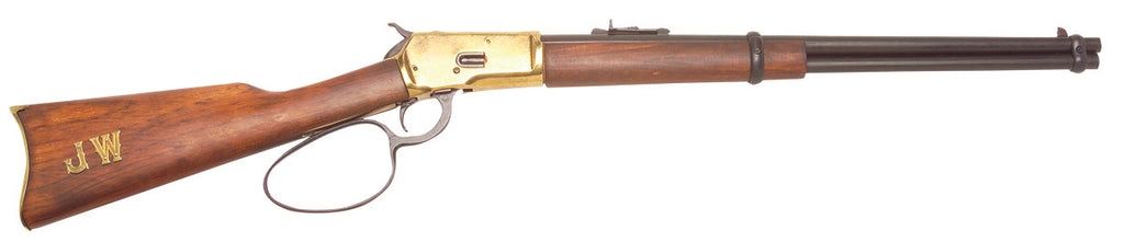 Old West 1892 Replica Antique Brass Finish Loop Lever Rifle Non-Firing Gun