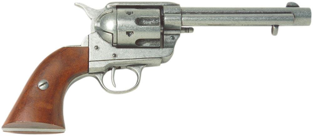 Old West Frontier Antique Grey Finish Replica Revolver Non-Firing Gun
