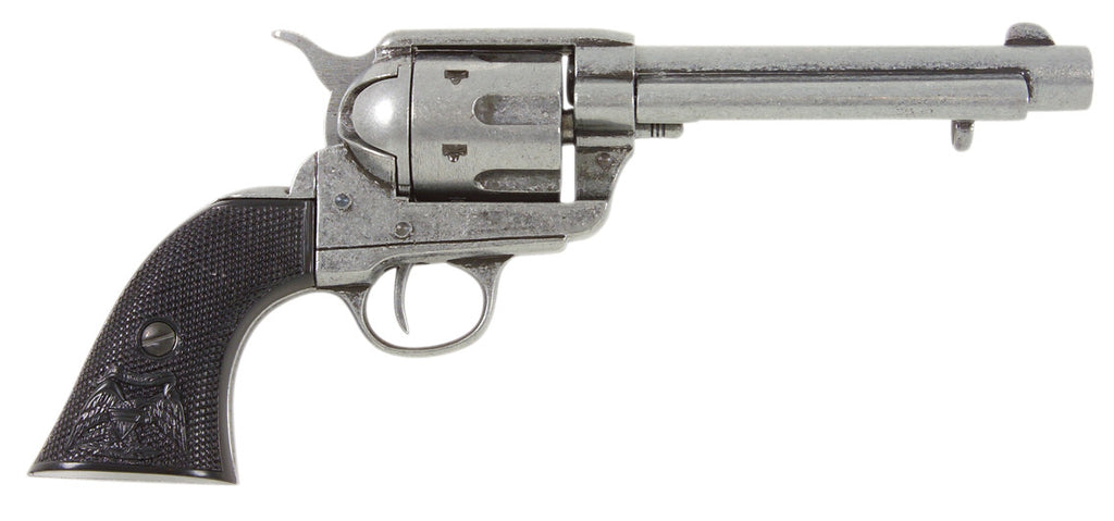 Old West 1873 Antique Grey Black Grip Replica Revolver Non-Firing Gun