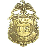 Deputy United States Marshal Eagle Badge - Brass