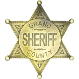 Grand County Sheriff Badge - Brass