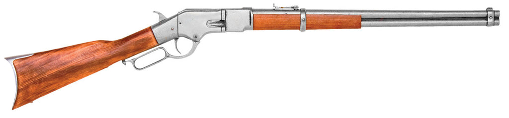 Old West Replica 1866 Grey Finish Lever Action Rifle Non-Firing Gun