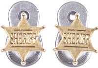 Old West Sheriff Badge Pistol Hanger
