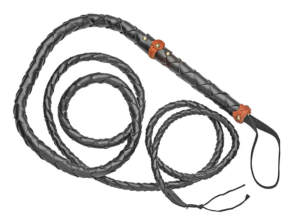 Old West 6' Braided Rawhide Bullwhip