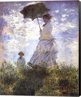 Claude Monet Madame Monet and Her Son Museum Wrapped Giclee Canvas Art Print