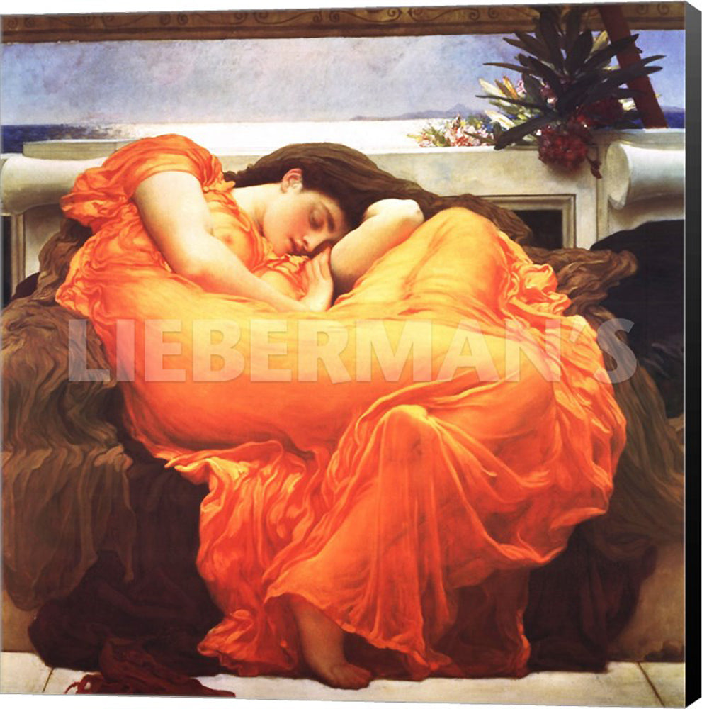Frederic Leighton Flaming June 1895 Museum Wrapped Giclee Canvas Art Print