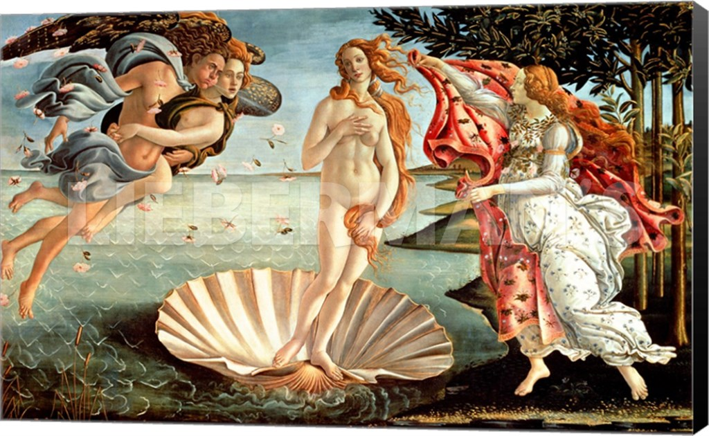 Sandro Botticelli Birth of Venus Museum Wrapped Giclee Canvas Art Print