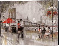 Ruane Manning New York Romance Museum Wrapped Giclee Canvas Art Print