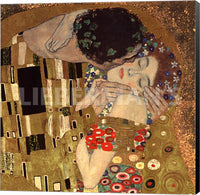 Gustav Klimt Kiss 1908 Museum Wrapped Canvas Art Print – Detail