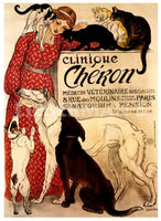 Clinique Cheron Art Deco Prints by Theophile Alexandre Steinlen Artist
