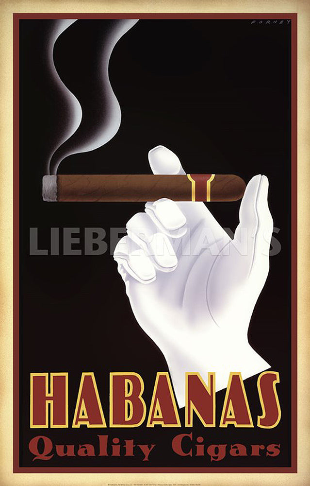 Habanas Quality Cigars Art Decor Prints by Steve Forney Artist