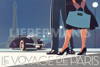 Le Voyage de Paris II Art Deco Prints by David Brier Artist