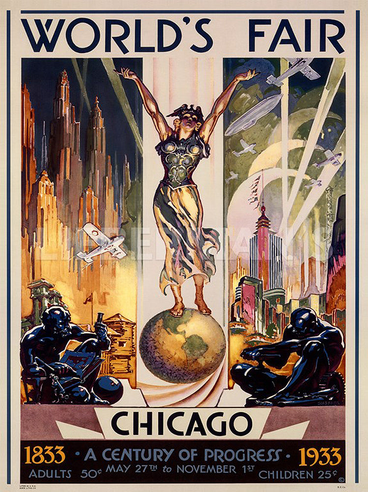 Chicago Worlds Fair 1933 Art Prints by Glen Sheffer Artist