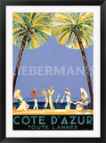 Cote d Azume Art Deco Prints by Jean Gabriel Domerque