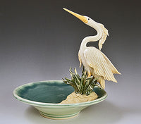 Heron Bowl Ceramic Artwork by Bonnie Belt